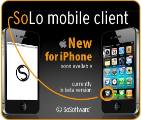 soLo mobile sur iPhone