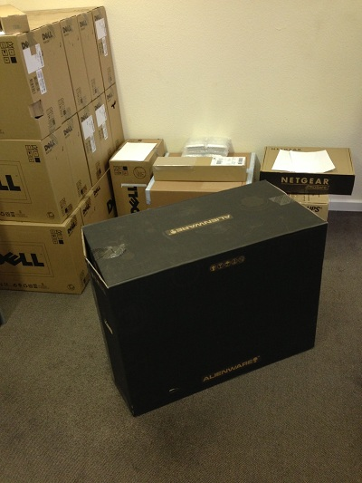 Packaging Alienware by Dell