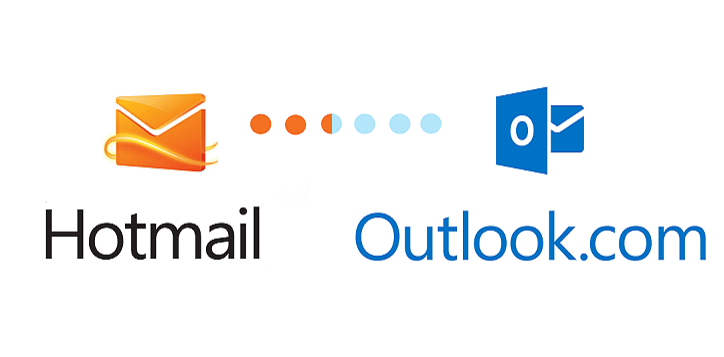 Migration hotmail outlook