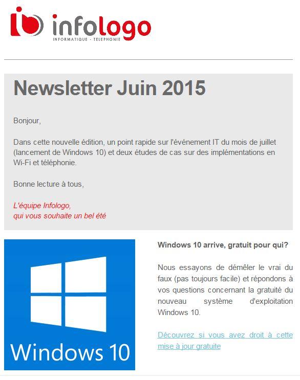 Newsletter Infologo Juin 2015