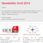 Newsletter Avril