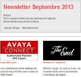 Newsletter septembre 2013 infologo
