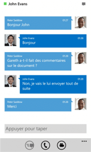 Lync 2013 sur Windows Phone 1