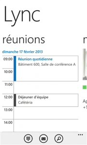 Lync 2013 sur Windows Phone 2
