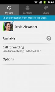Lync 2013 sur Android 3