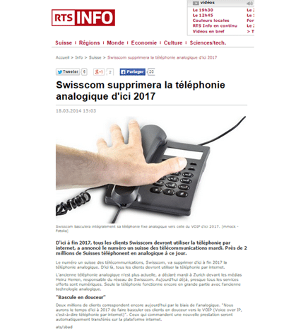 RTS Fin telephonie analogique