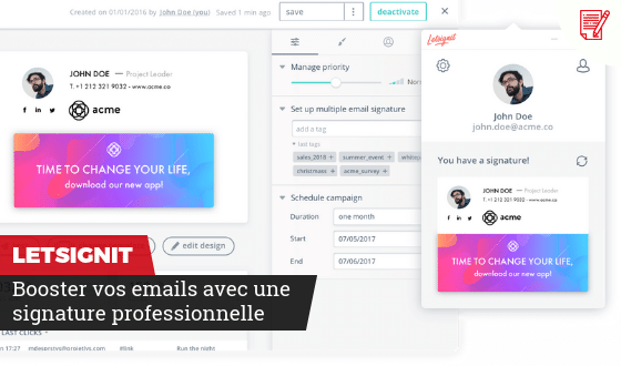 Booster vos emails avec Letsignit
