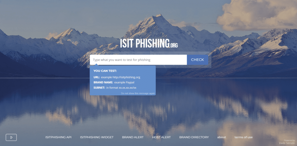 isitphishing.org site web