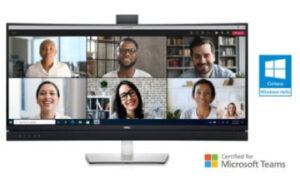 Écran de conférence vidéo incurvé Dell 34