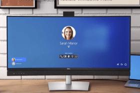écran Dell incurvé DESIGN, avec caméra bien intégrée